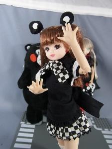 くまモン×リカちゃんに這いよるニャル子さんで遊ぼう016