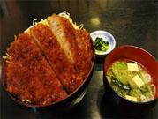 信州林檎入りメンチカツのソースカツ丼