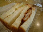 地鶏の唐揚げサンド