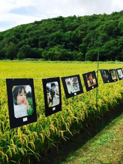 2014.8.25田んぼで写真展8