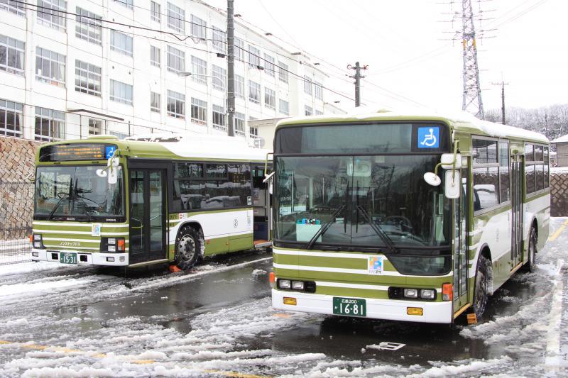 広電バス12号線 東浄小車庫