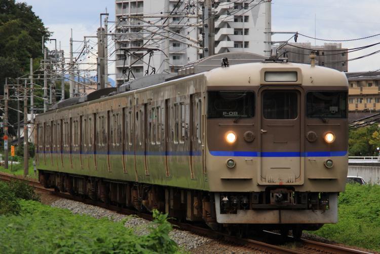 113系4両 P-04 矢野-坂
