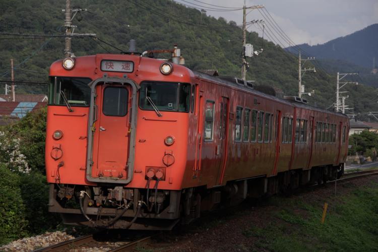 キハ47系1000番台+0番台 2両 中深川-上深川