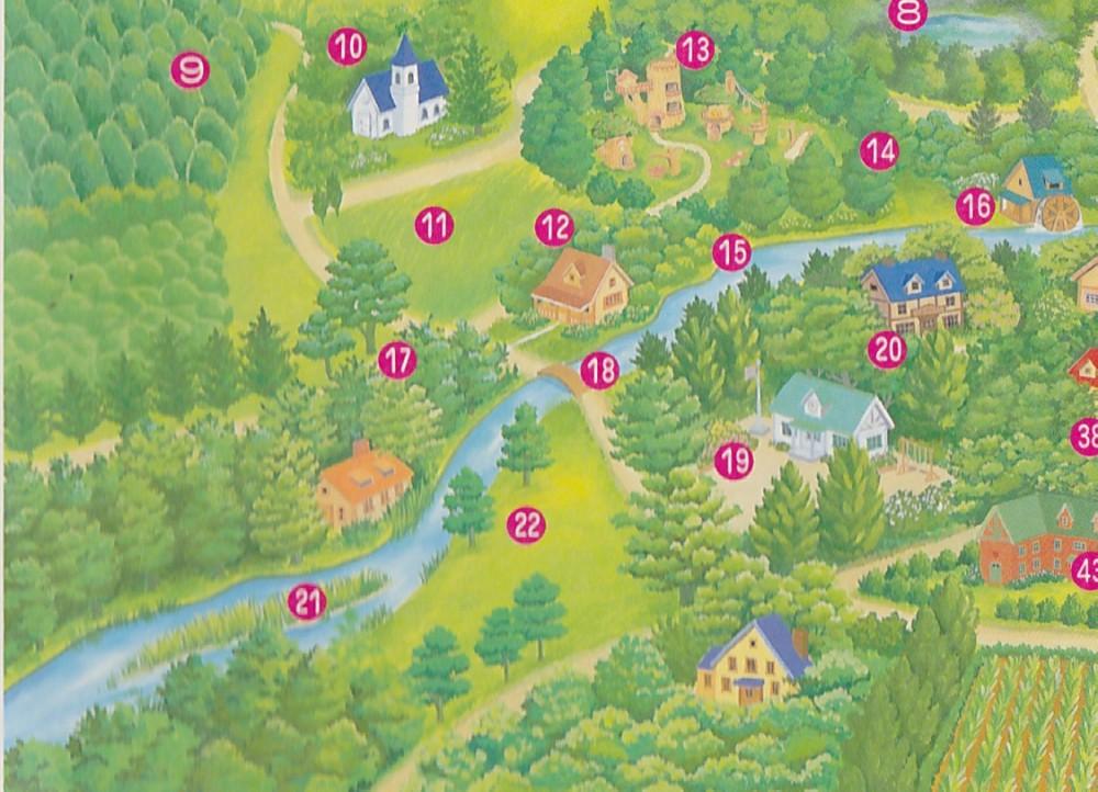 シルバニア村 地図 1996 左下