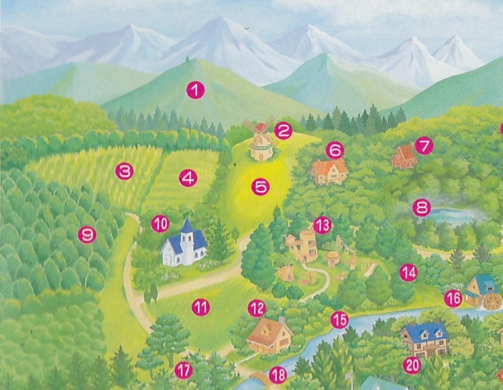 シルバニア村 地図1996 左上