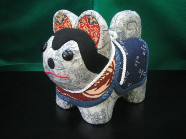 【木目込み人形】犬張り子福犬