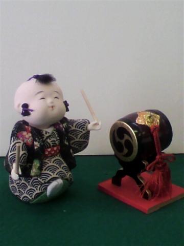 【木目込み人形】童どんどん(太鼓)