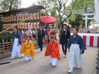 王子神社田楽舞4