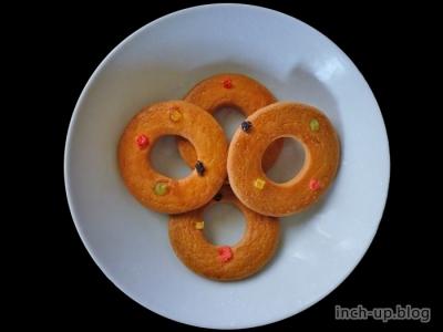 浮き輪型リングクッキー