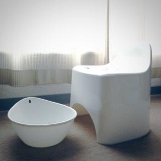 IKEA お風呂イス 洗面器 GRUMLAN