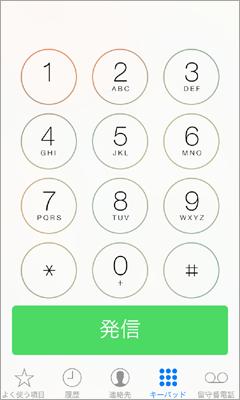 電話のテンキー