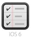 iOS 6 のリマインダーアイコン