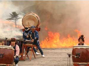 砥峰高原山焼き