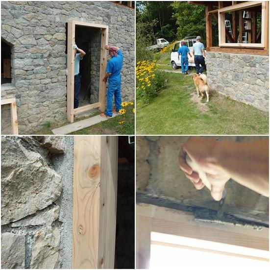 窓、ドア枠工事