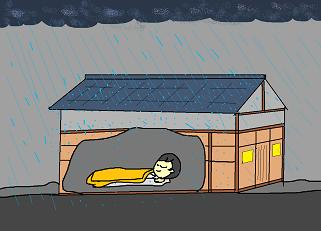 雨音は子守唄