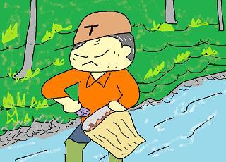 川掃除をする