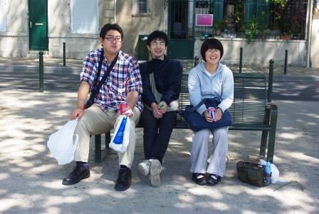 ロアール河畔の3人