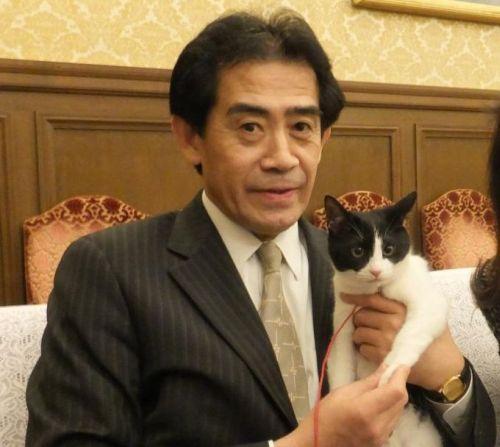 逢沢先生と握手500