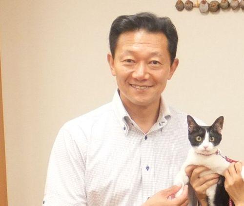 阪口直人先生 握手