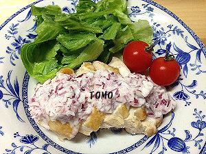 鶏胸肉のレッドオニオンソース