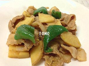 筍と豚ばら肉のテンメンジャン炒め