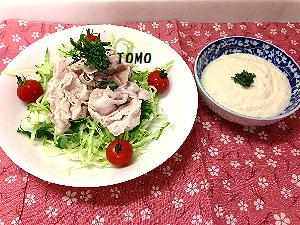 豆腐ソースの冷しゃぶ