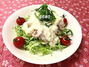 豆腐ソースの冷しゃぶ1