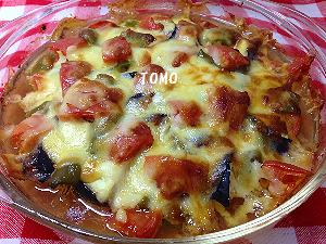 夏野菜のキャセロール焼き