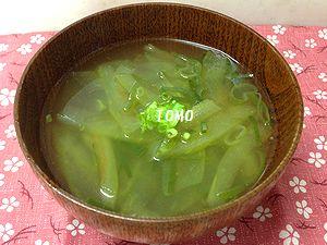 スイカとネギのスープ