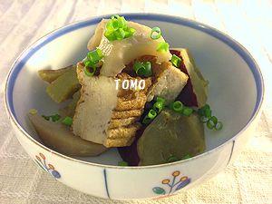 サツマイモとレンコンの生姜入り煮物