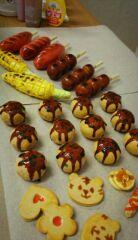 粘土で作った縁日の食べ物たち