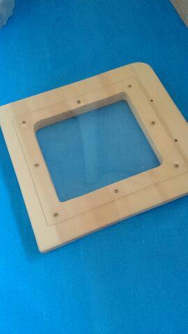 10.レンジ扉の窓に取り付けたアクリル板