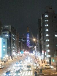 ホワイトデーカラーの東京タワー