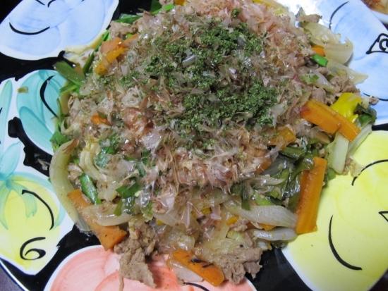 ソース味野菜炒め