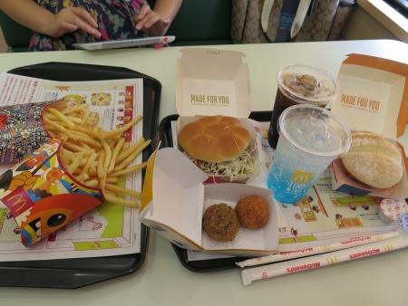 日本バーガーとフランスバーガー