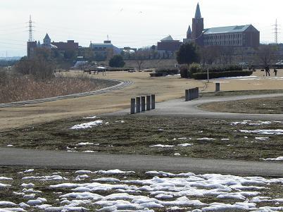 大雪後の安比奈公園