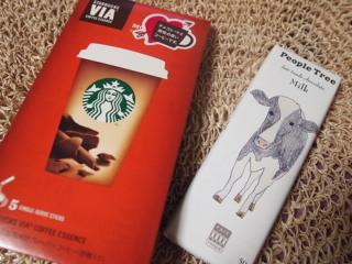 チョコでお茶してます。