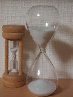 白い砂時計 5分計