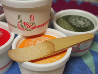 天然竹のアイスクリームスプーンつき