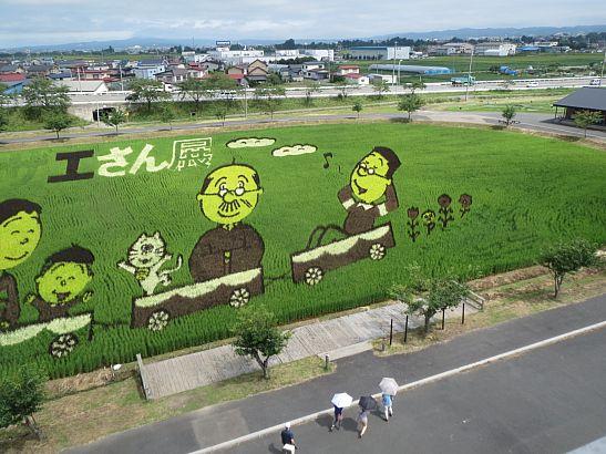 田舎館の田んぼアートを見てきました。