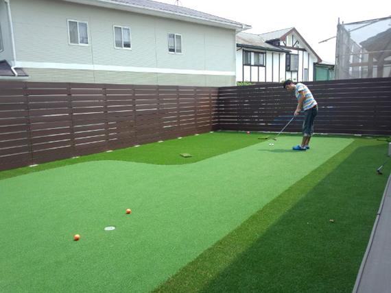 福岡県三井郡でリアルなゴルフ練習場を施行しました。