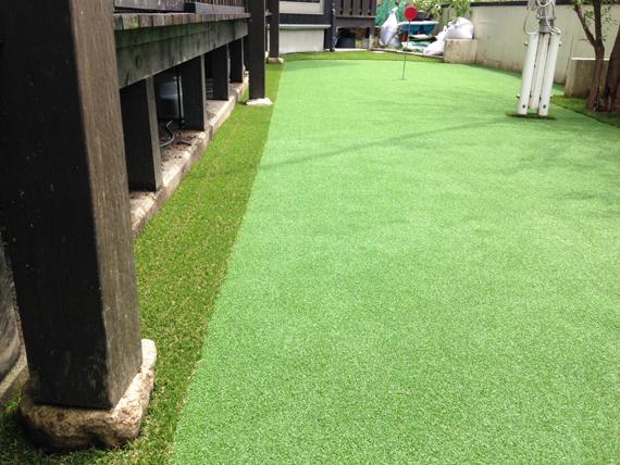 高知県高知市でリアルなゴルフ練習場を施行しました。