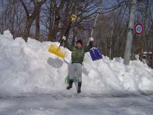 事務所除雪Before人