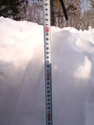 H26.2大雪積雪メジャー測定