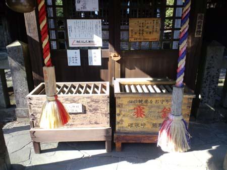 旧碓氷峠熊野神社賽銭箱