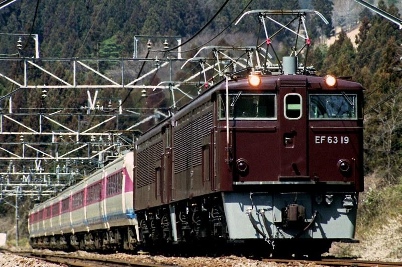 1997年3月25日 熊ノ平(信)~横川にて