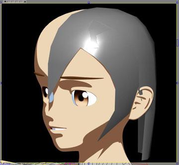 トゥーン髪2