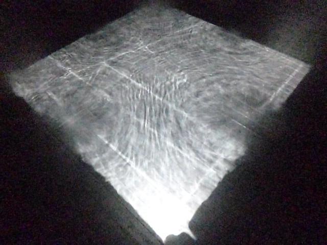 波紋が投影されます