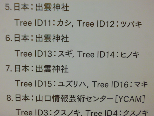 ちなみに5~8はこの場所の木
