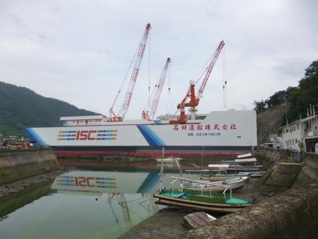 大きな船 と思ったら実は建物の壁だったんです